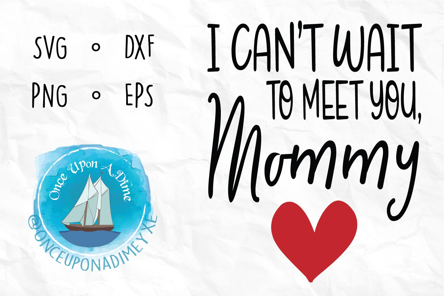 Meet You, Mommy | Baby| Baby Announcement SVG Cut File example image 1