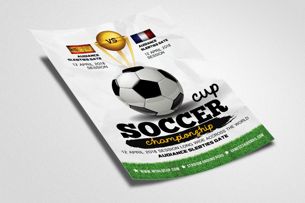 Football Match Flyer Template example image 2