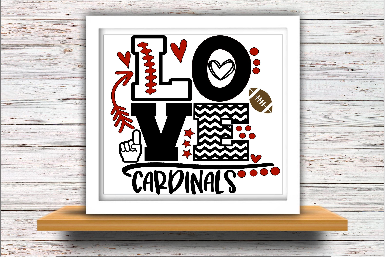 Football SVG DXF JPEG Silhouette Cameo Cricut cardinals mom example image 2