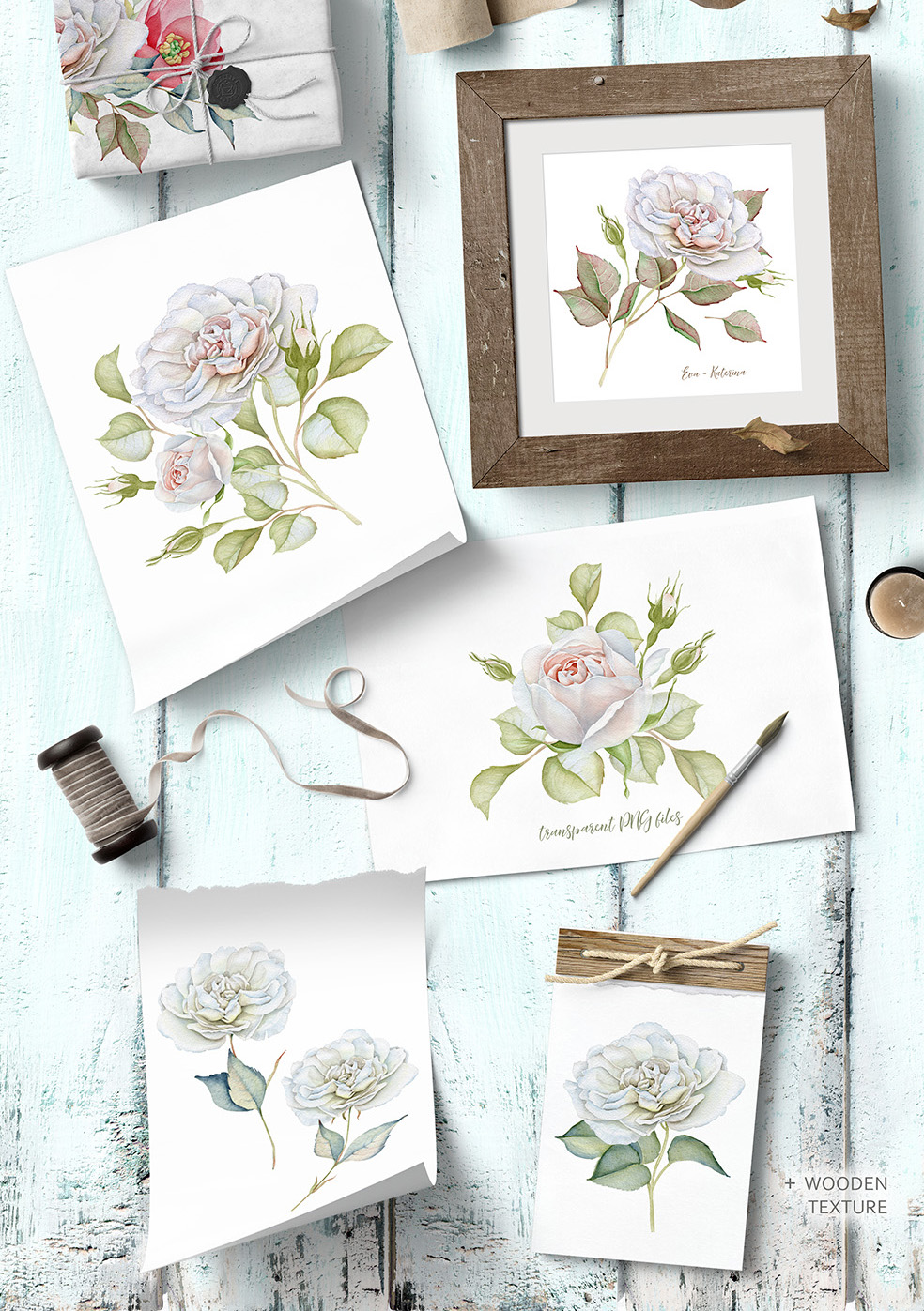 15%OFF. Watercolor Floral Collection example image 3