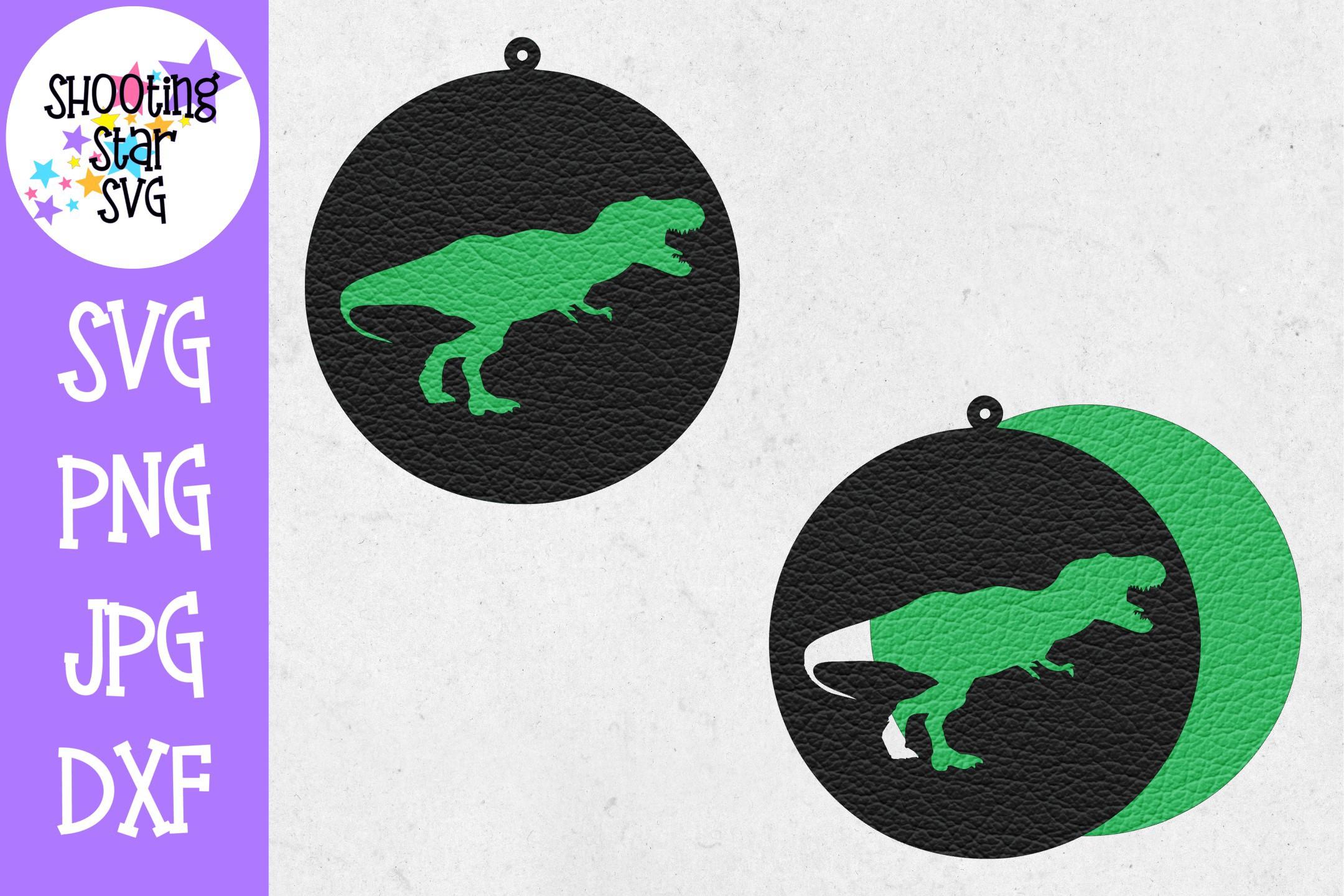 Dinosaur Earring SVG Template - Earring SVG - Dinosaur SVG example image 2