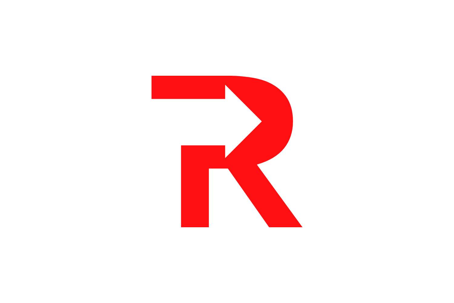 r letter arrow logo example image 1