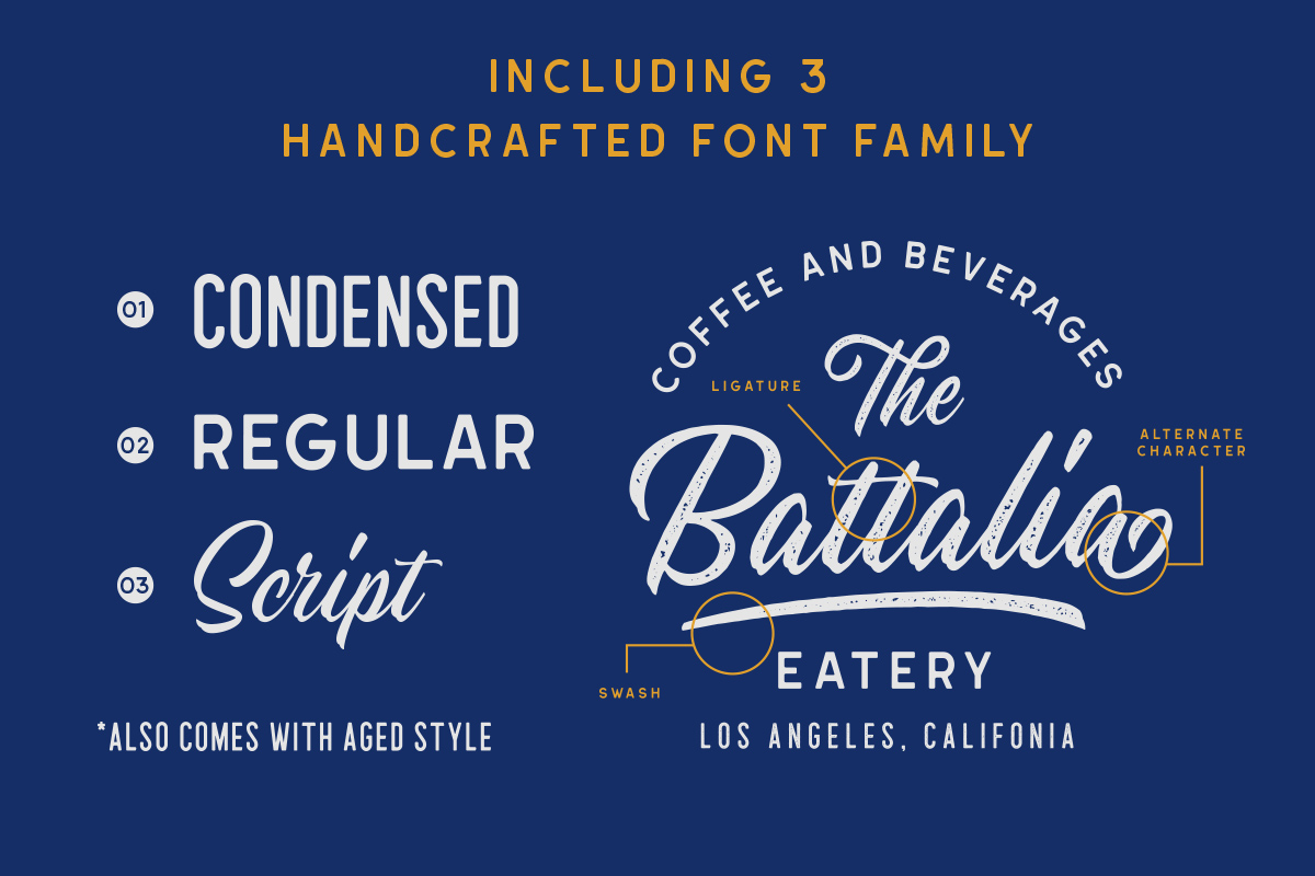 Hillstown Font Collection and EXTRA example image 2