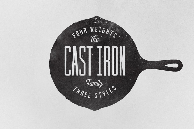 Cast Iron Family - Font example image 4