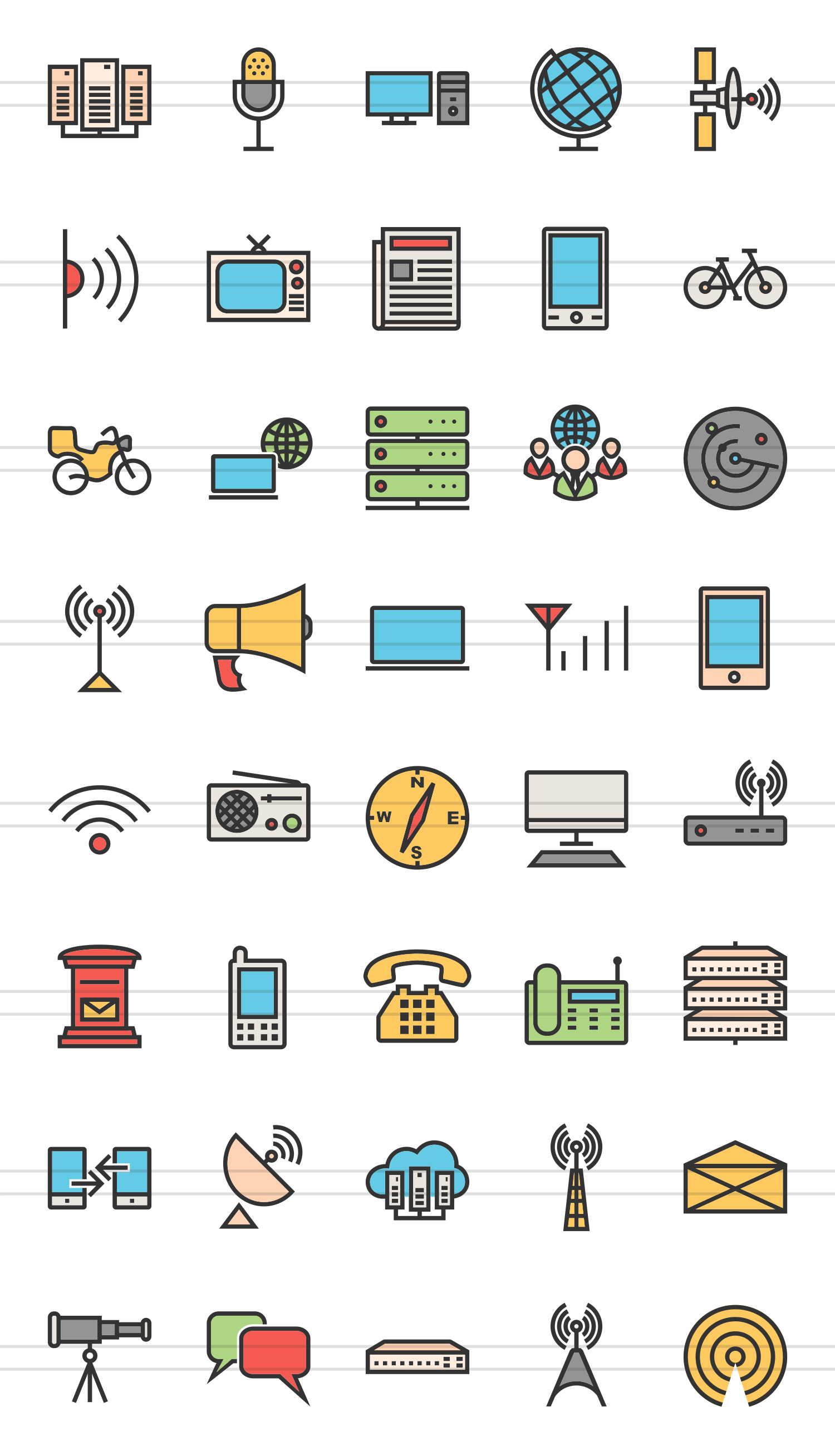 50 Academics Linear Multicolor Icons example image 2