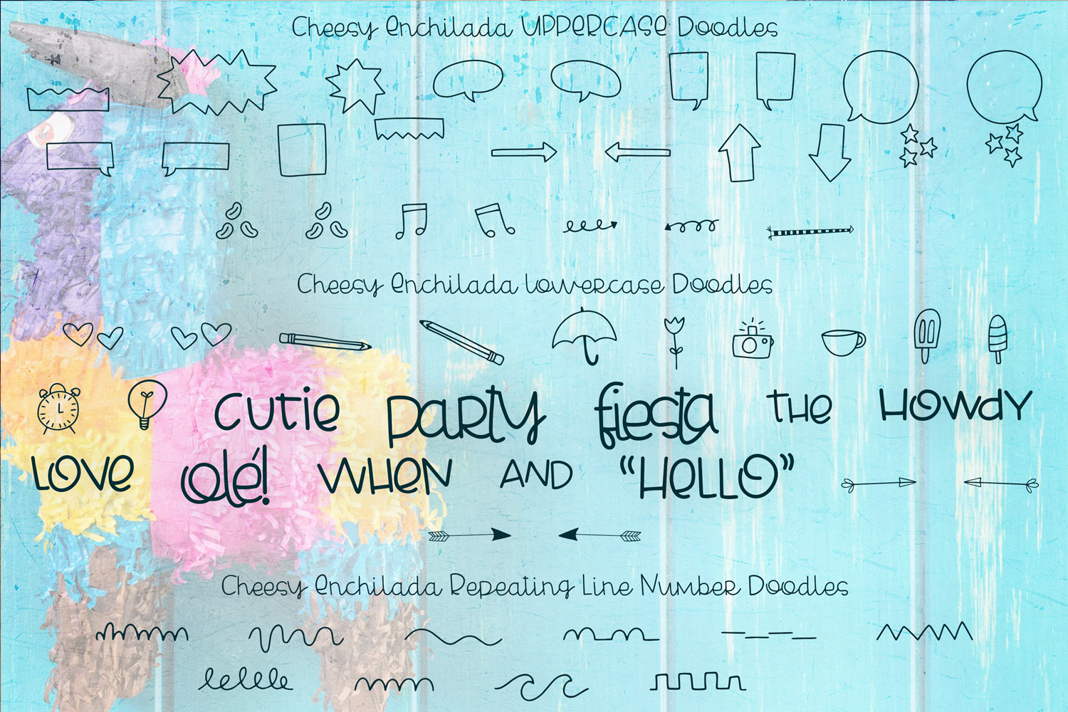 Cheesy Enchilada Font Duo example image 5