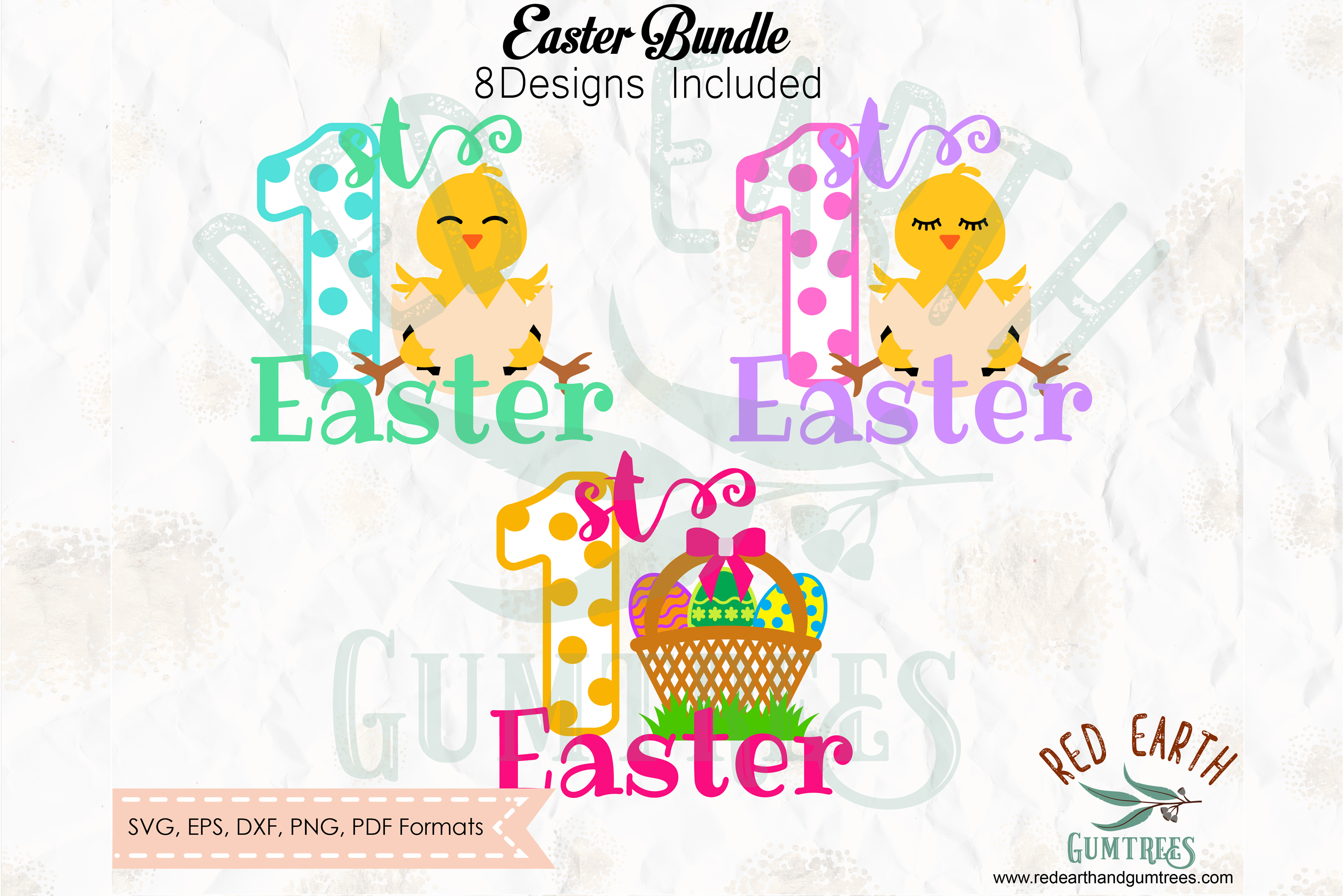Easter bundle, Easter rabbits, bunny cut file in SVG format example image 2