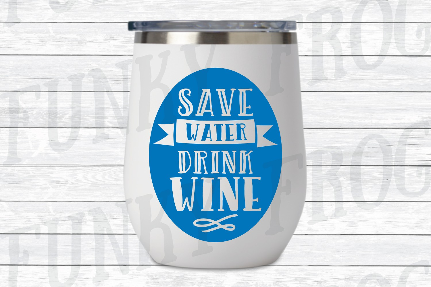 Save Water Drink Wine SVG Cut File for Crafters example image 2