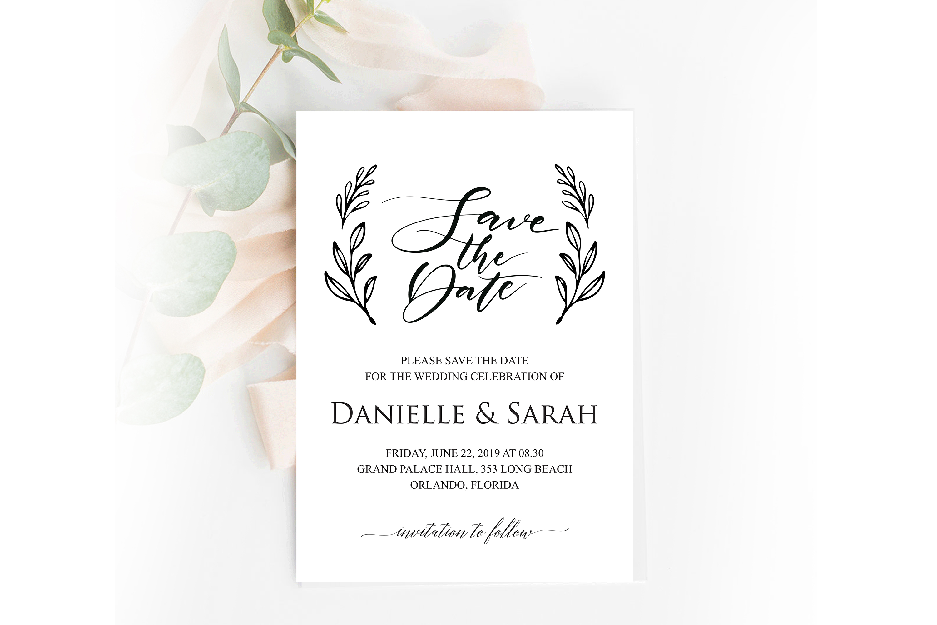 Save The Date Invitation Save The Date Template