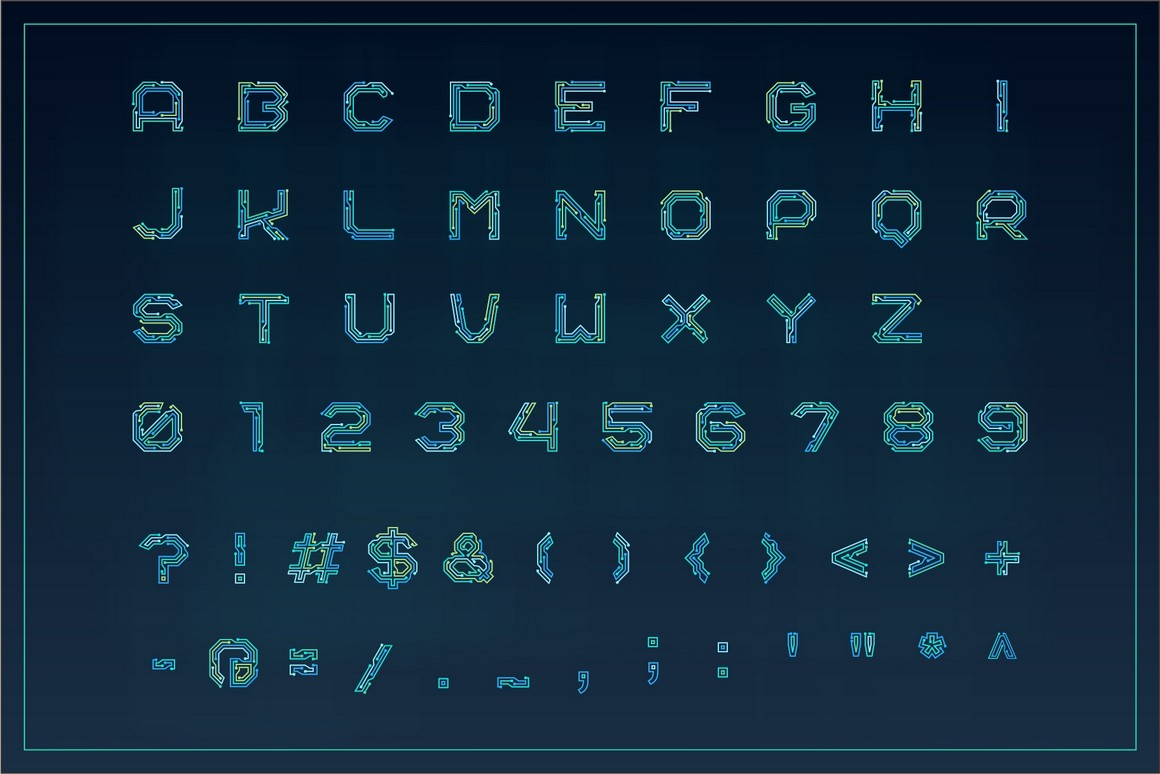 Circuitra - Color Font example image 2