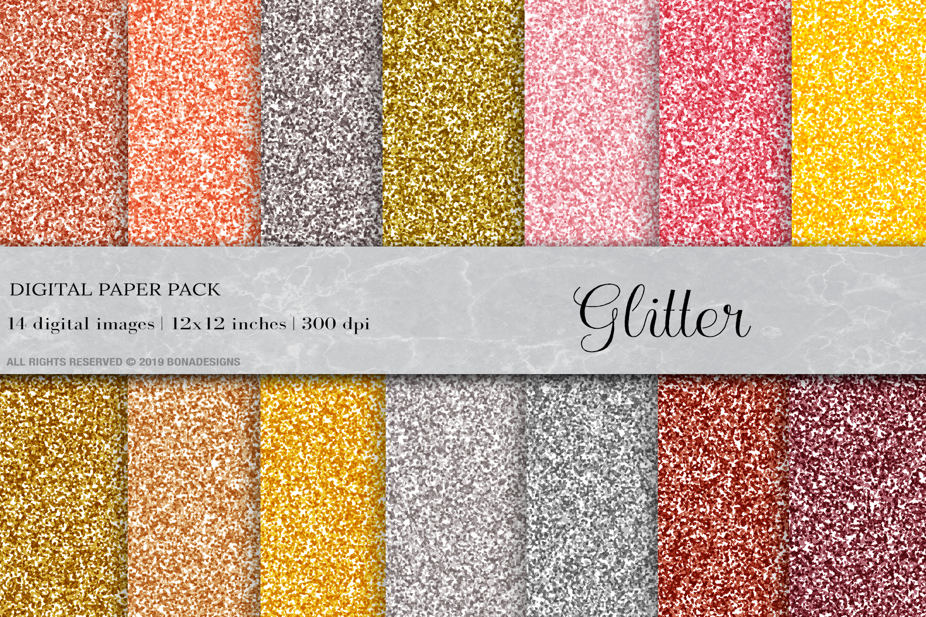 Glitter Digital Papers, Glitter Textures, Glitter Background example image 1