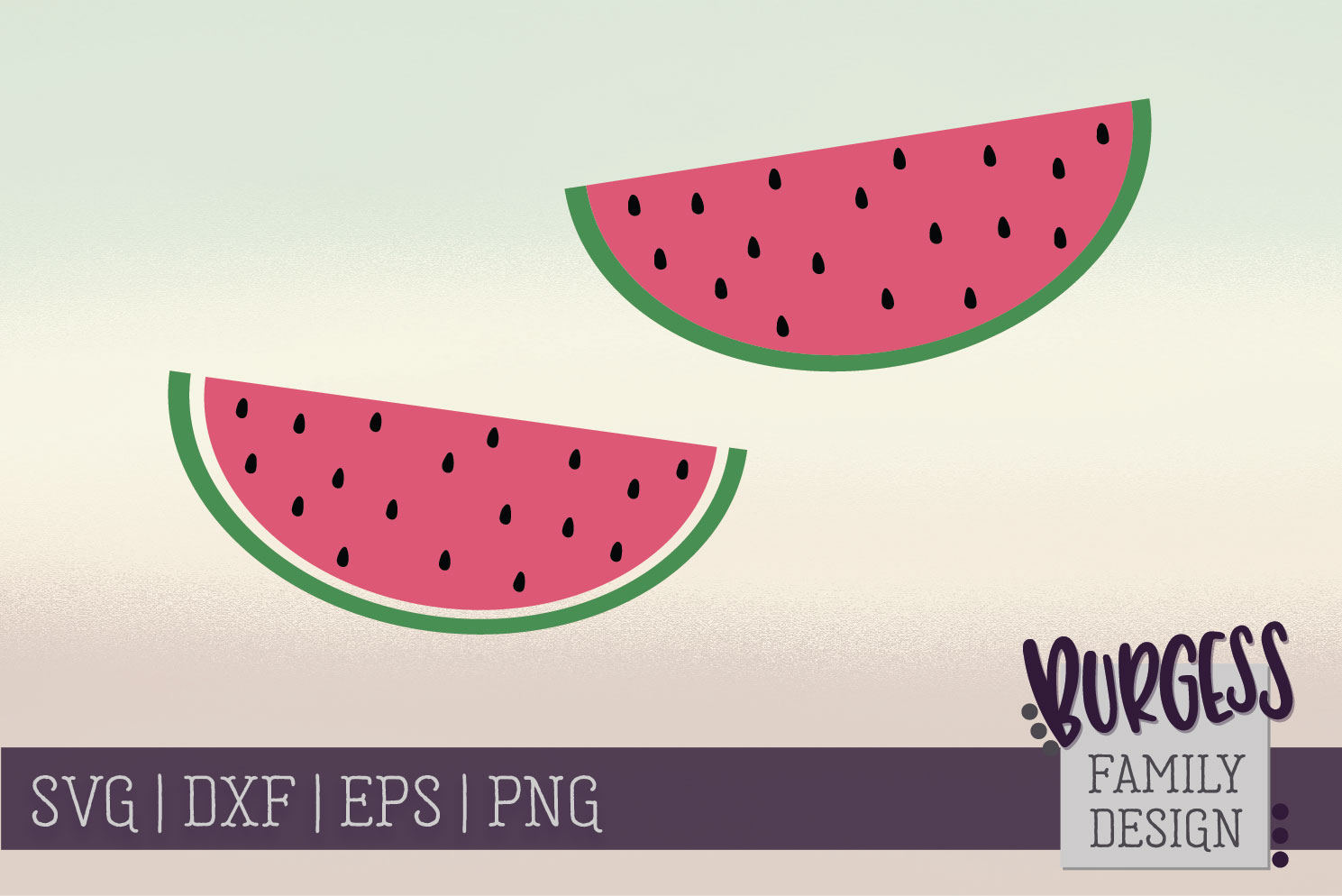 Watermelons - Clipart   SVG DXF EPS PNG example image 1