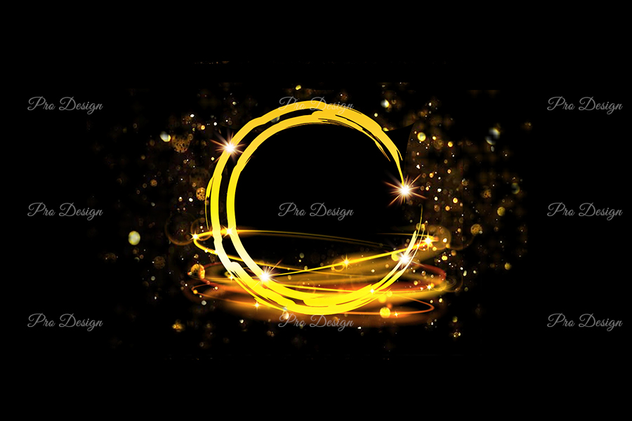 Golden Circle Sparkling Frame Background example image 1