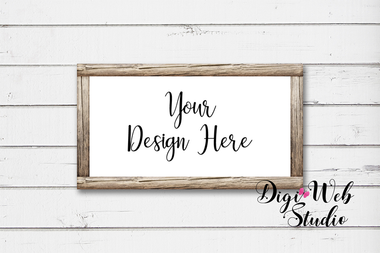 Mockup Bundle - Butterfly Cottage Wood Signs, Pillow & Mug example image 6