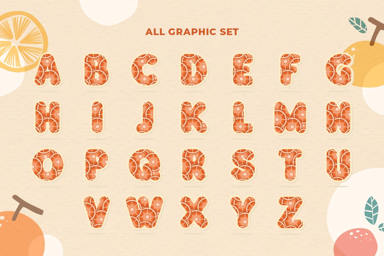 Orange Alphabet Set example image 4