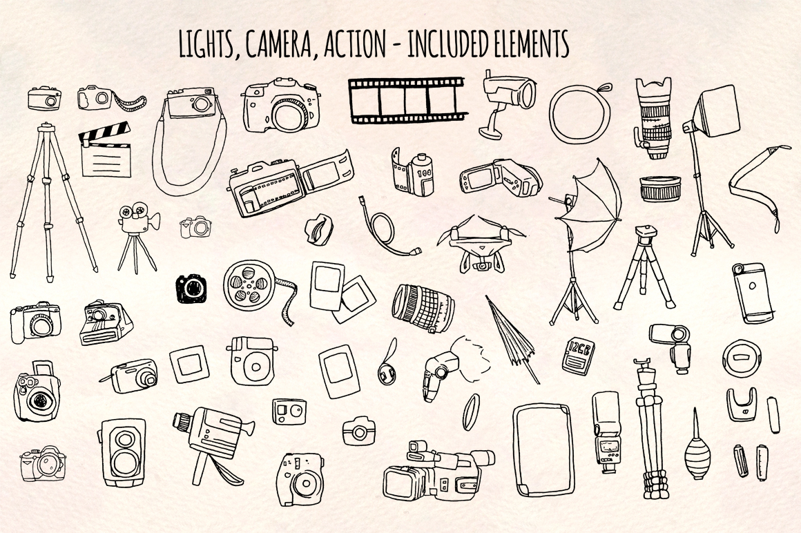 50 Camera, Photography and Film Vector Graphics example image 2