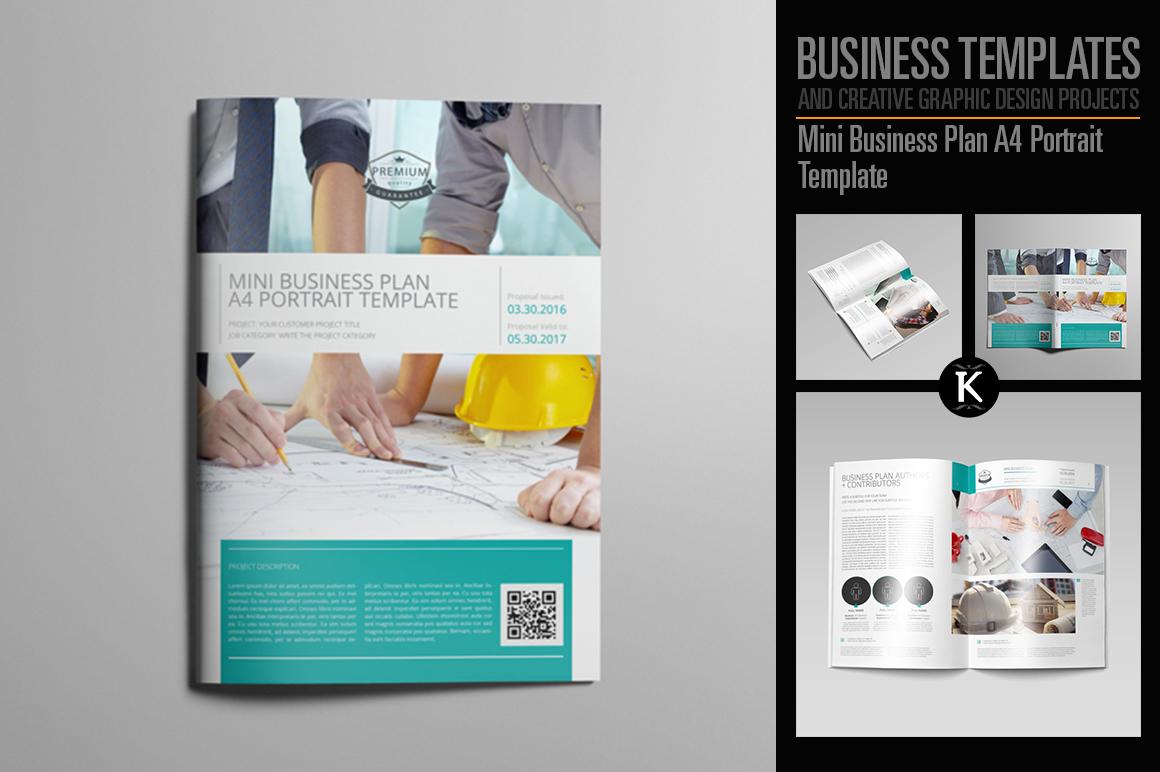 Mini Business Plan A4 Portrait Template example image 1