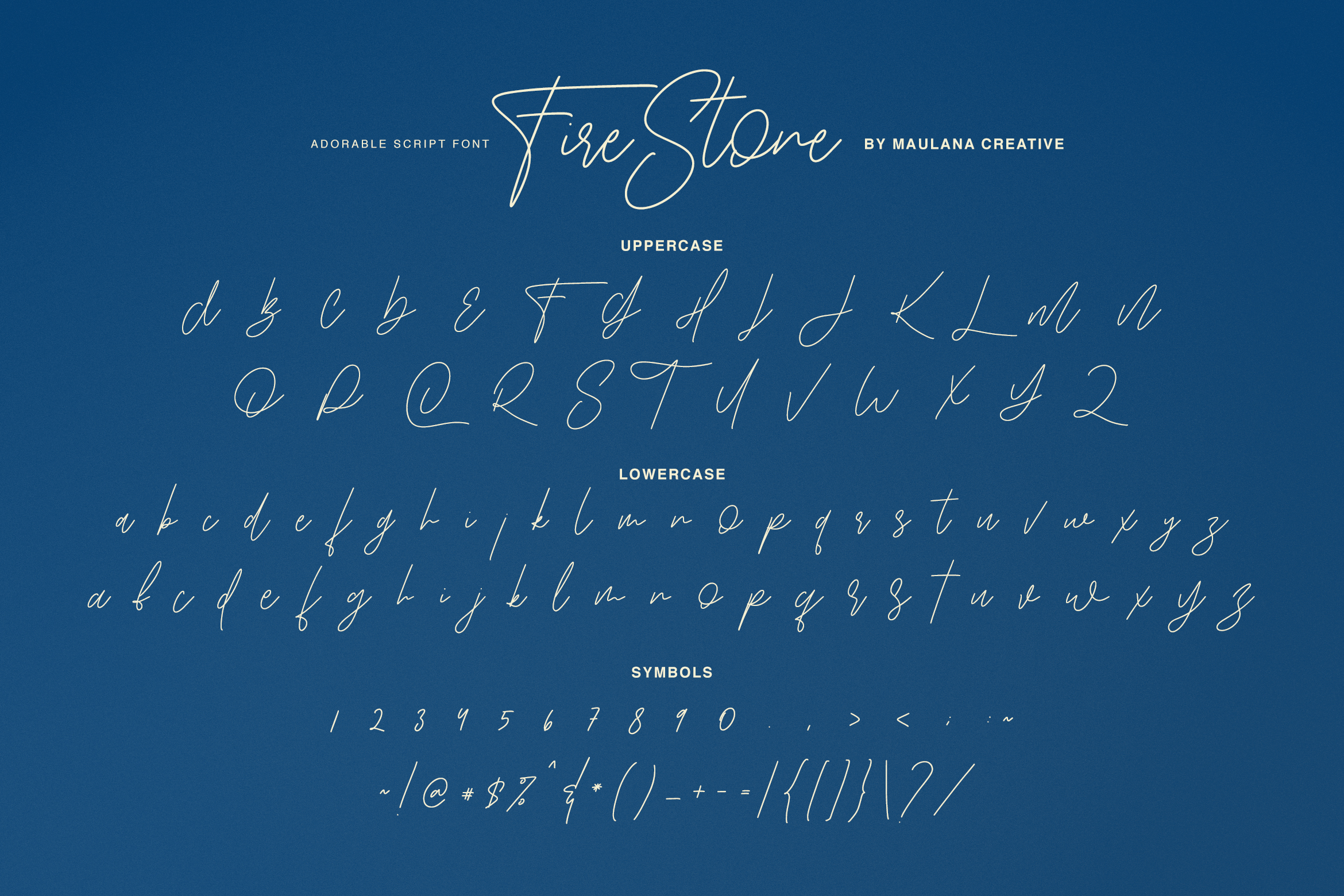 Fire Stone Signature Font example image 7