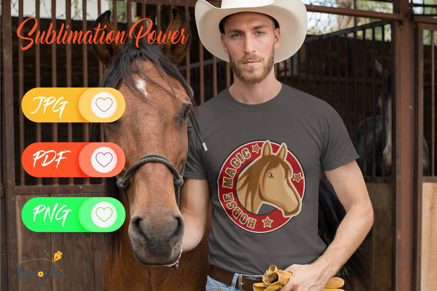 Horse Magic - Sublimation File for Crafter example image 2