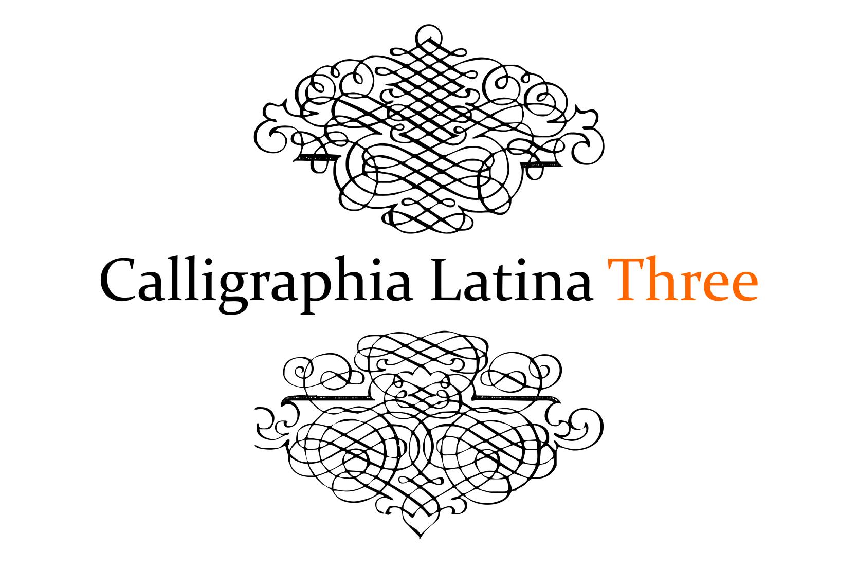 Calligraphia Latina Three example image 5