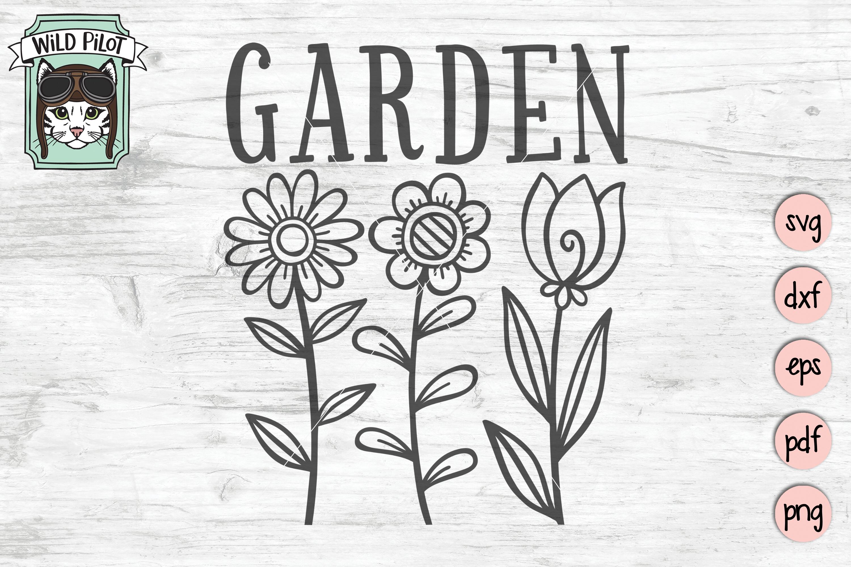 Garden SVG file, Garden Sign, Flower Garden, Spring example image 1