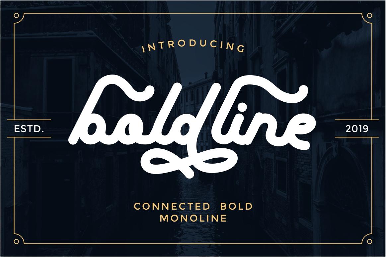 boldline - monoline bold typeface example image 1