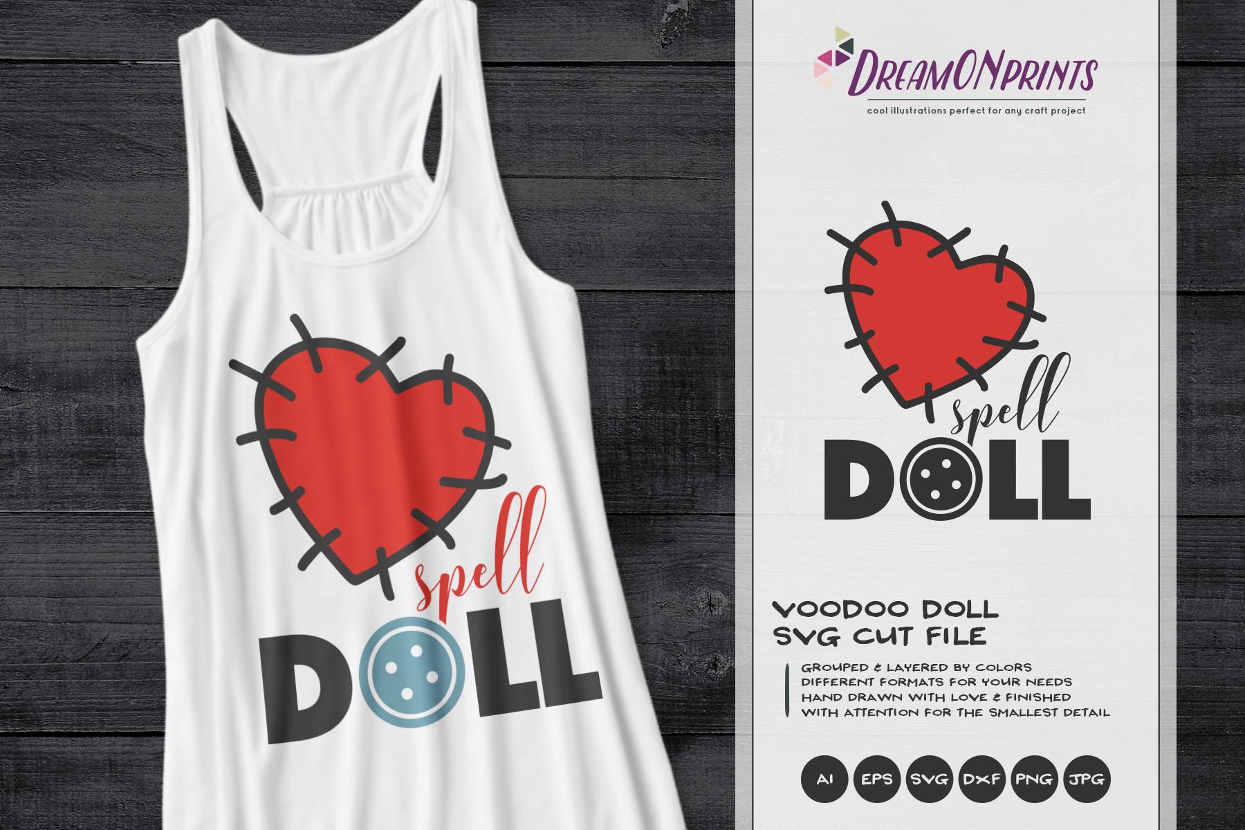 Voodoo Doll SVG | Halloween Costume SVG example image 1