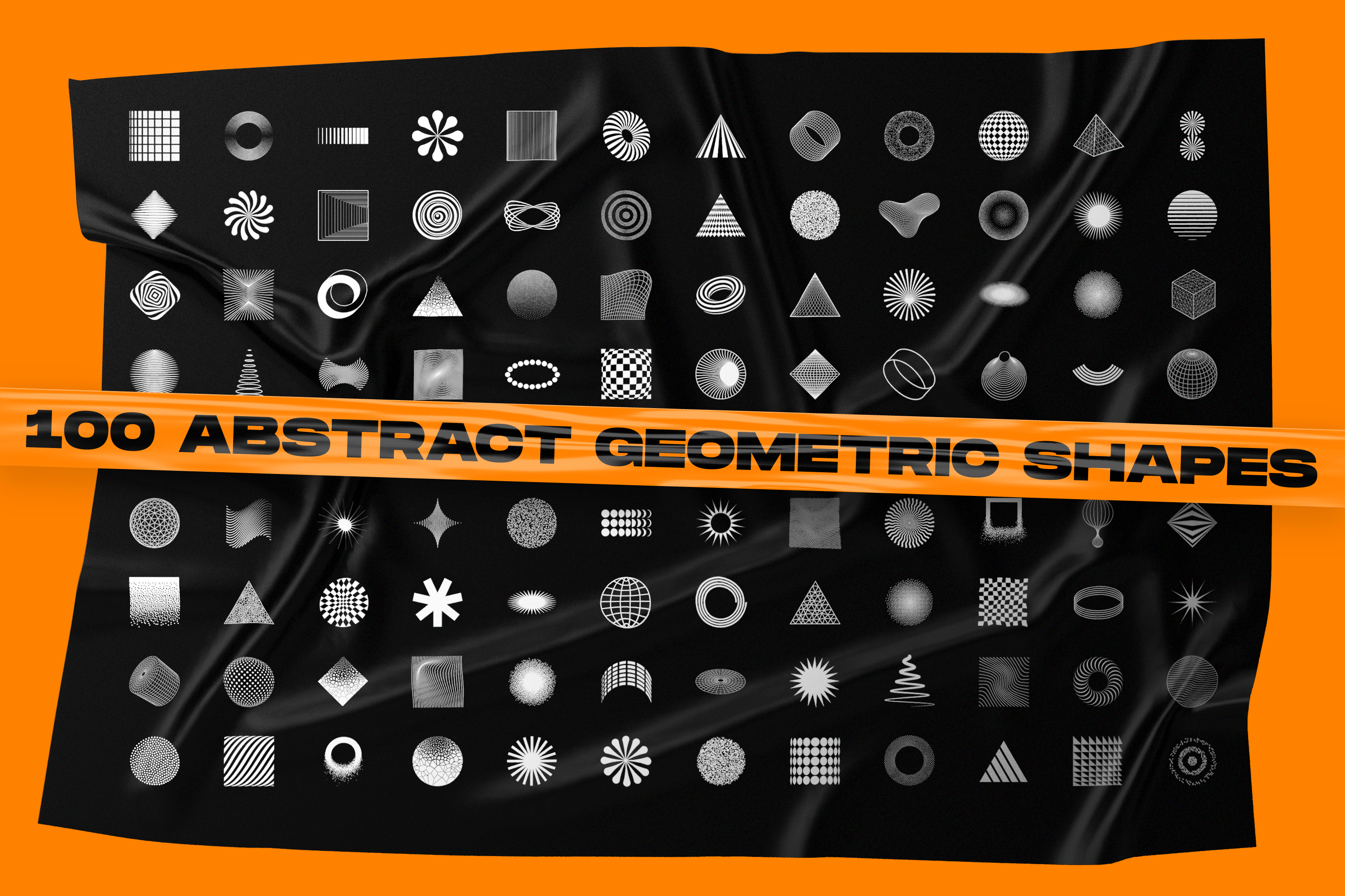 200 Abstract geometric shapes & Plastic wrap backgrounds example image 2
