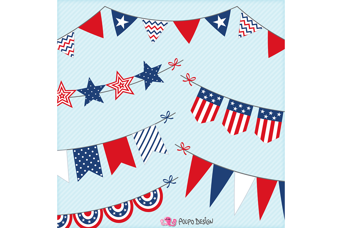 4th of July bunting banners example image 3