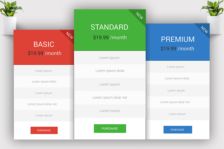 Minimal Pricing Table example image 4