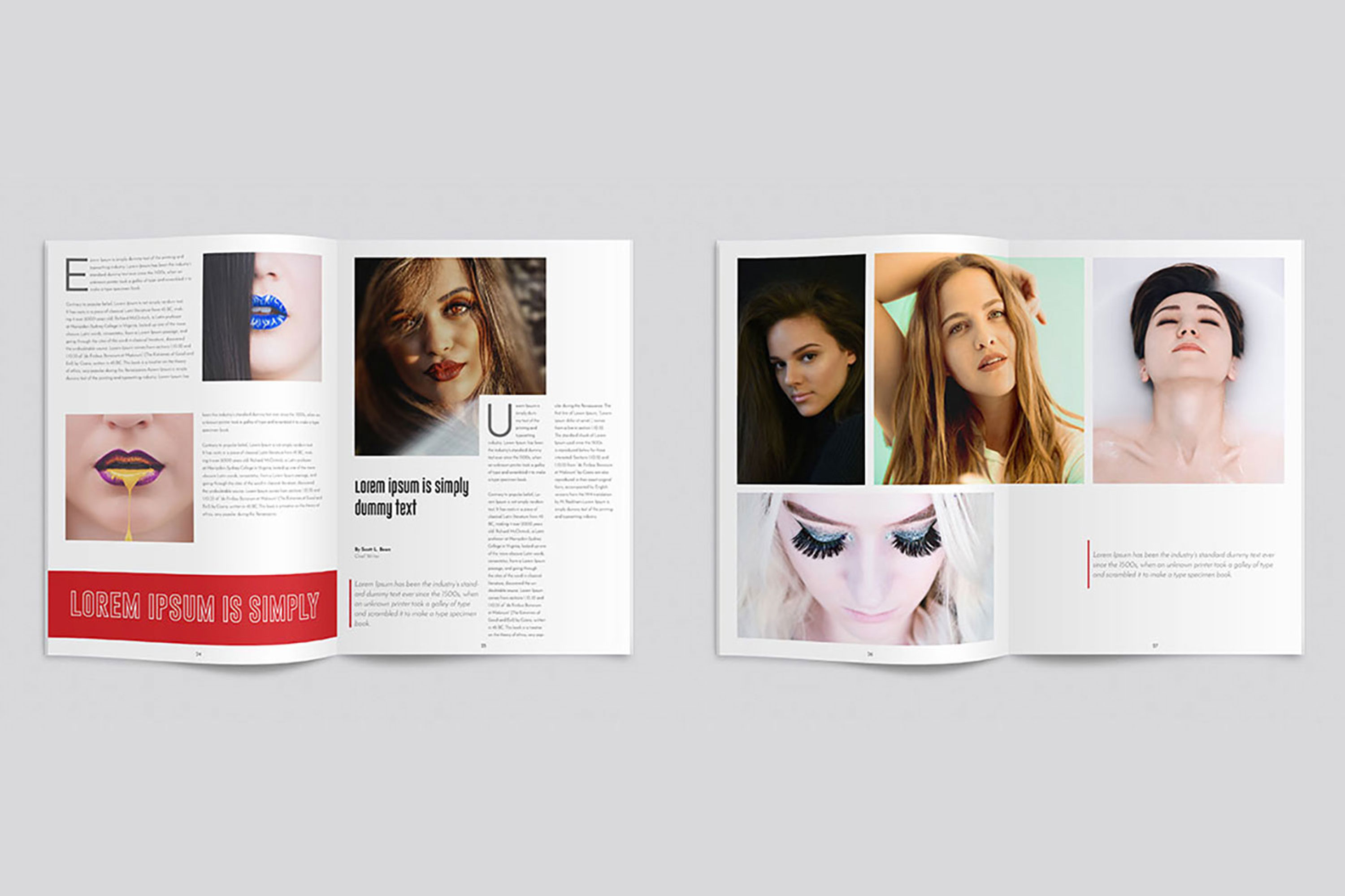 InDesign Multiple Magazine Layout example image 5