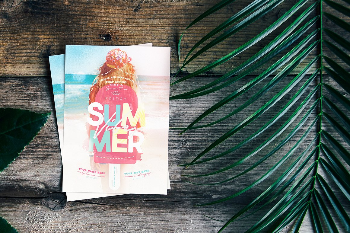 Summer Vibes Flyer Template example image 3