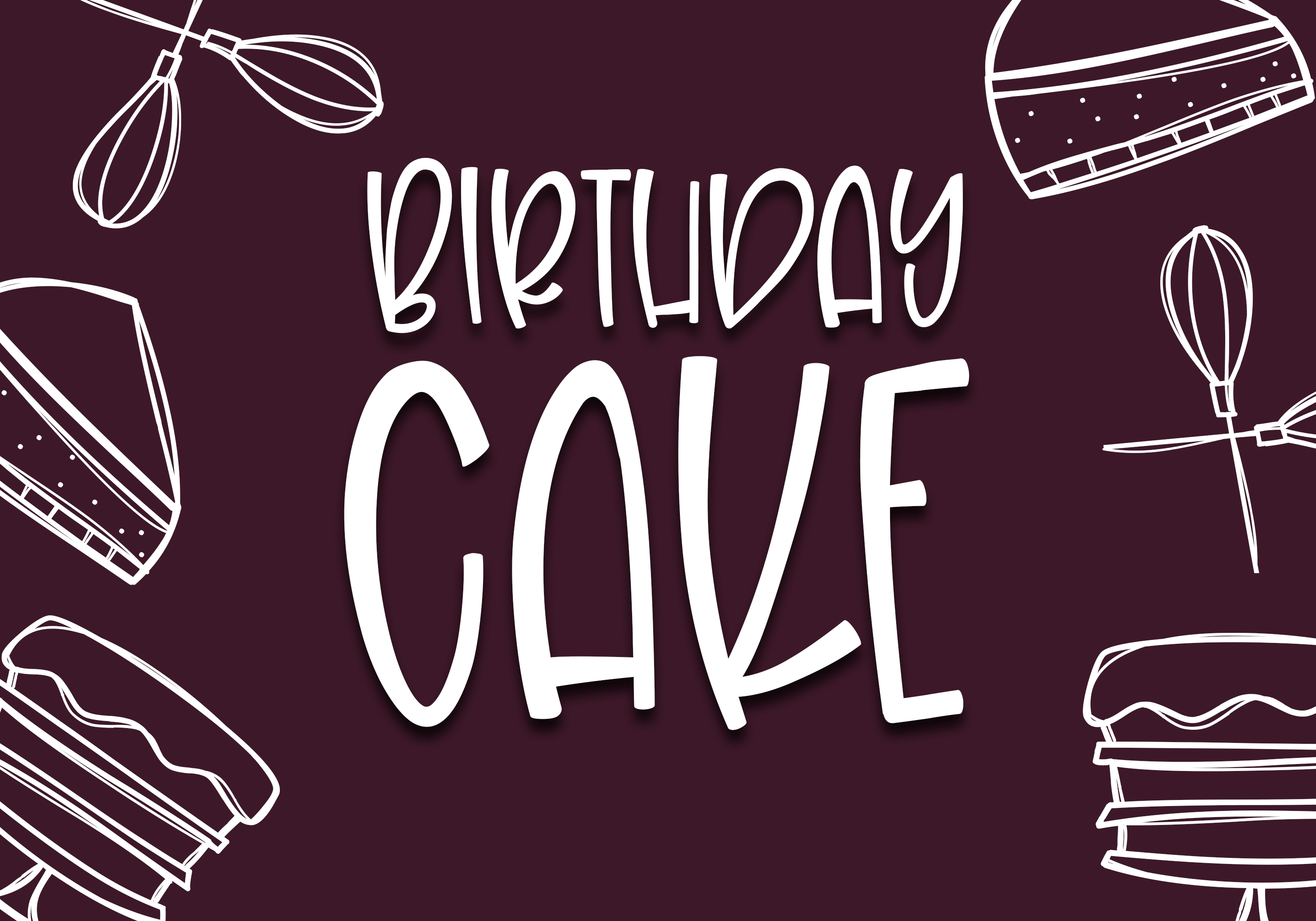 Birthday Cake - A Handwritten Font example image 8