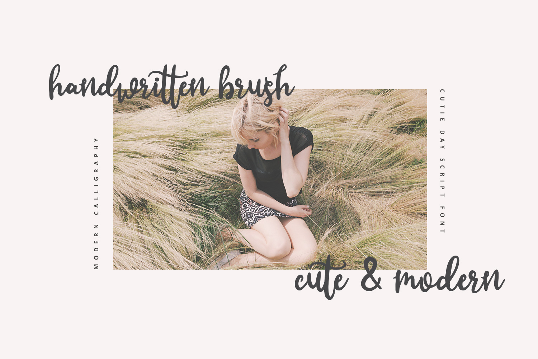 Cutie Day - Cute Script Font example image 4
