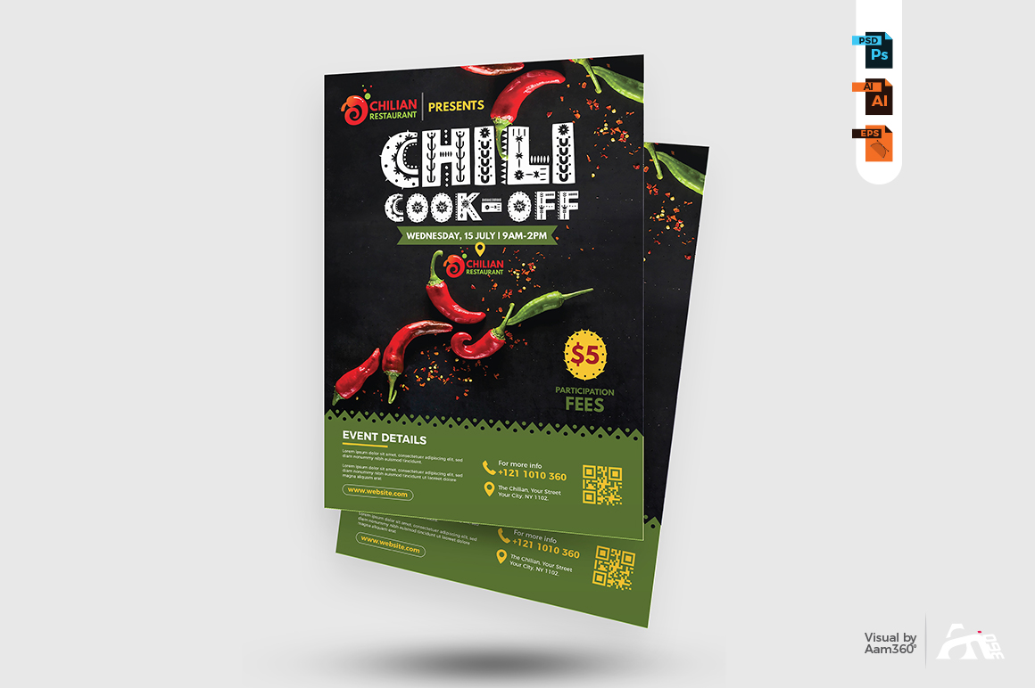 Chili Cook Off Flyer Template example image 2