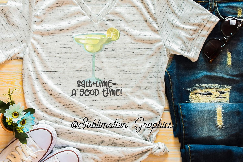 Salt plus Lime 2 Sublimation Digital Download example image 1