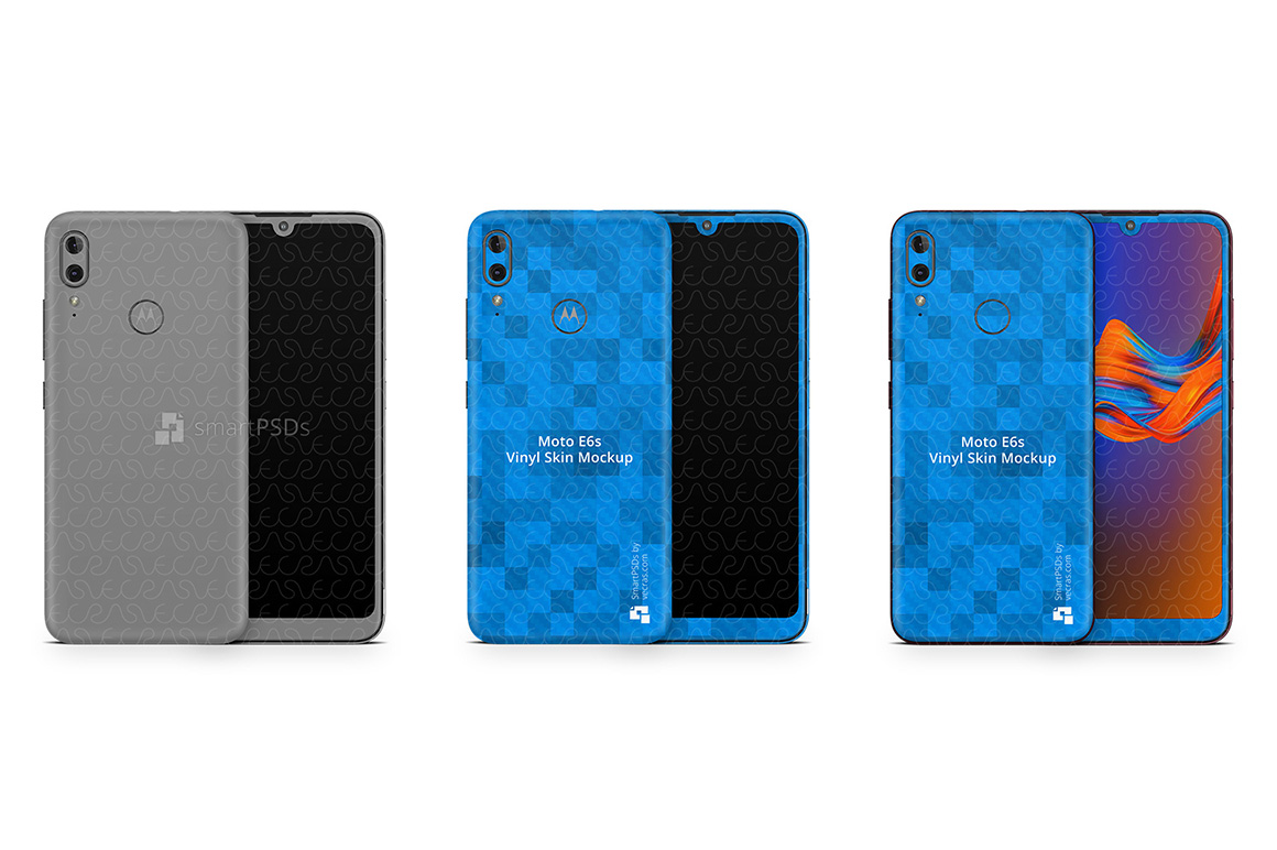 Motorola E6s 2019 PSD Skin Mockup Template example image 1