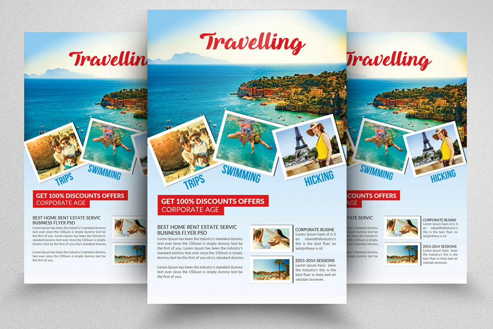 Tour & Travel Vacation Flyer Template example image 1