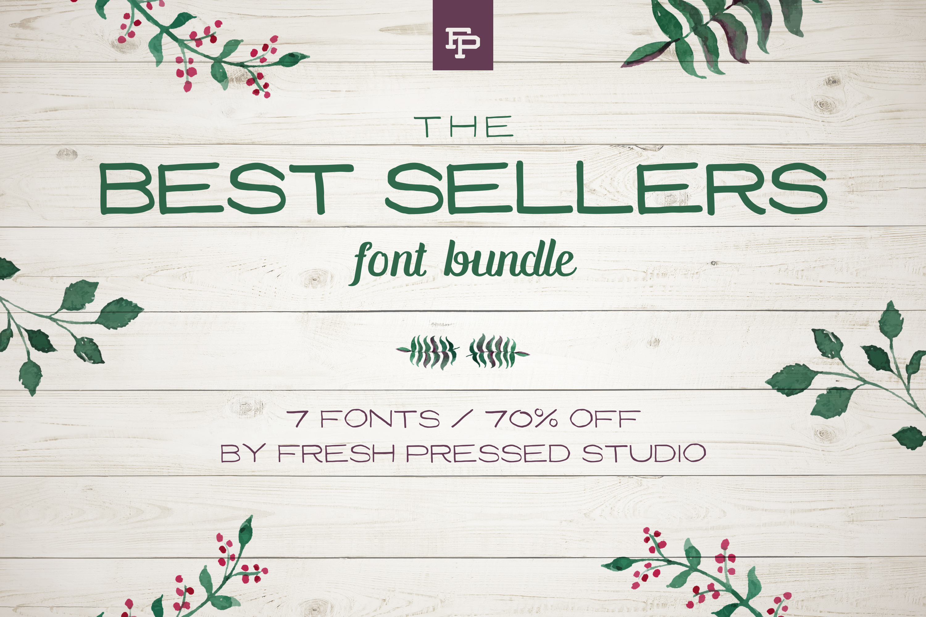 Fresh Pressed Fonts - Best Sellers Bundle example image 1