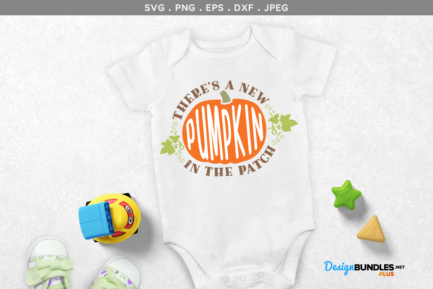 There's a New Pumpkin in the Patch - svg, printable example image 1