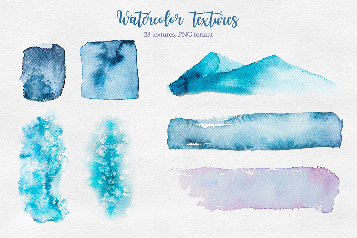 Winter. Watercolor collection. example image 12