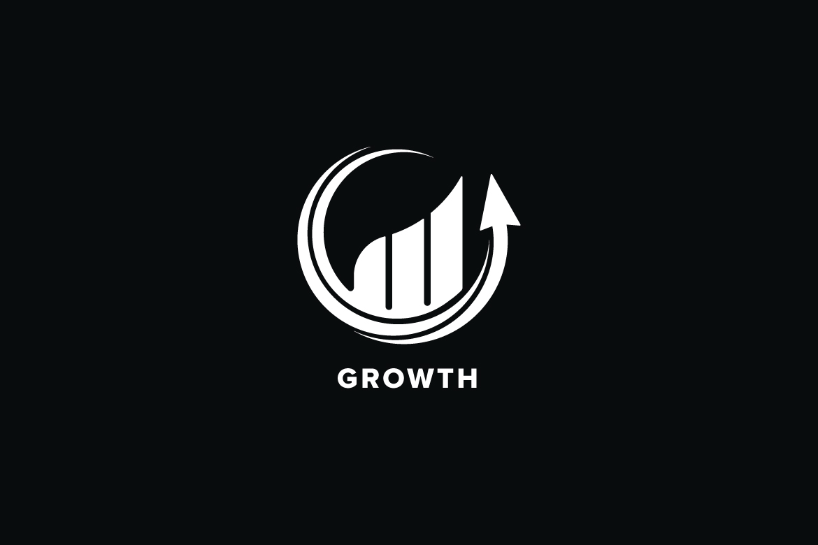 Growth Market Logo Template example image 3