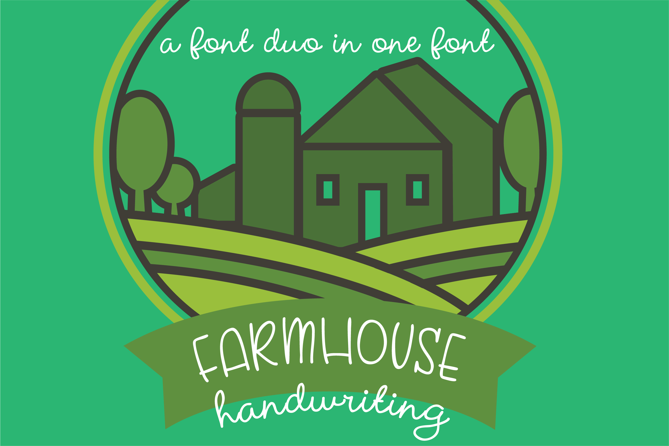 PN Farmhouse Handwriting example image 1