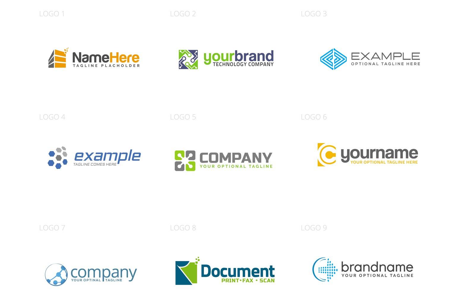 Technology Logo Design Set example image 2