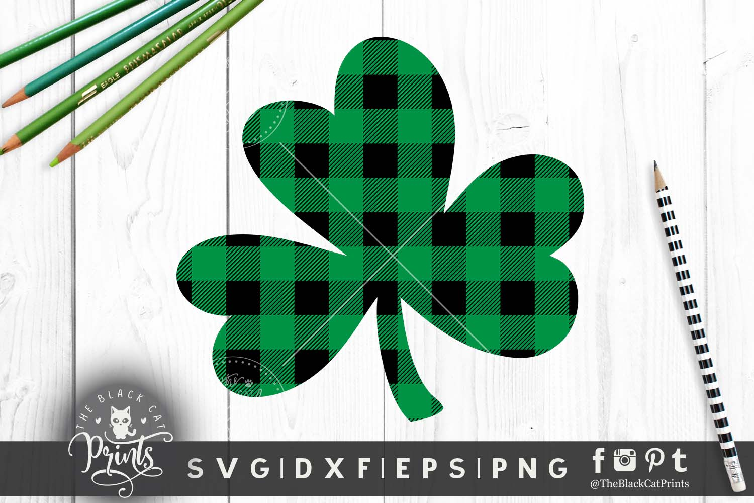 Shamrock Clover Clipart SVG DXF EPS PNG example image 4