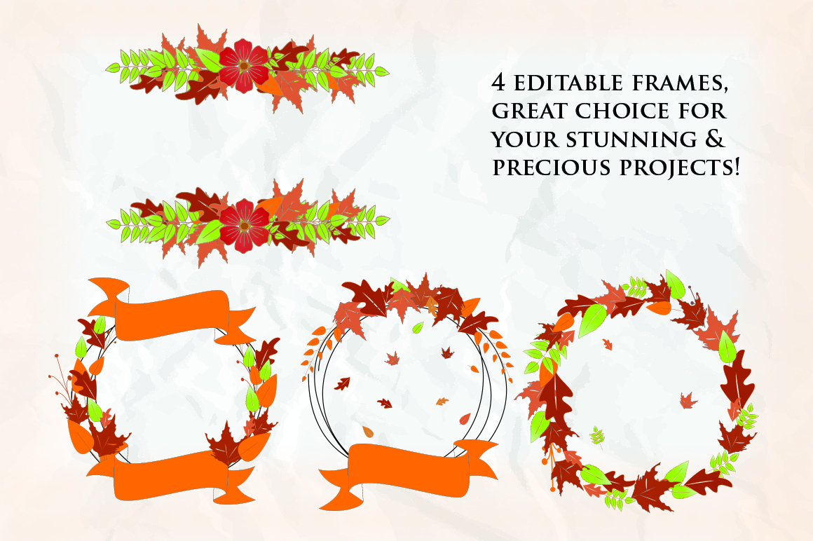 Pretty Pumpkin - Fun Serif Font with Frame example image 6
