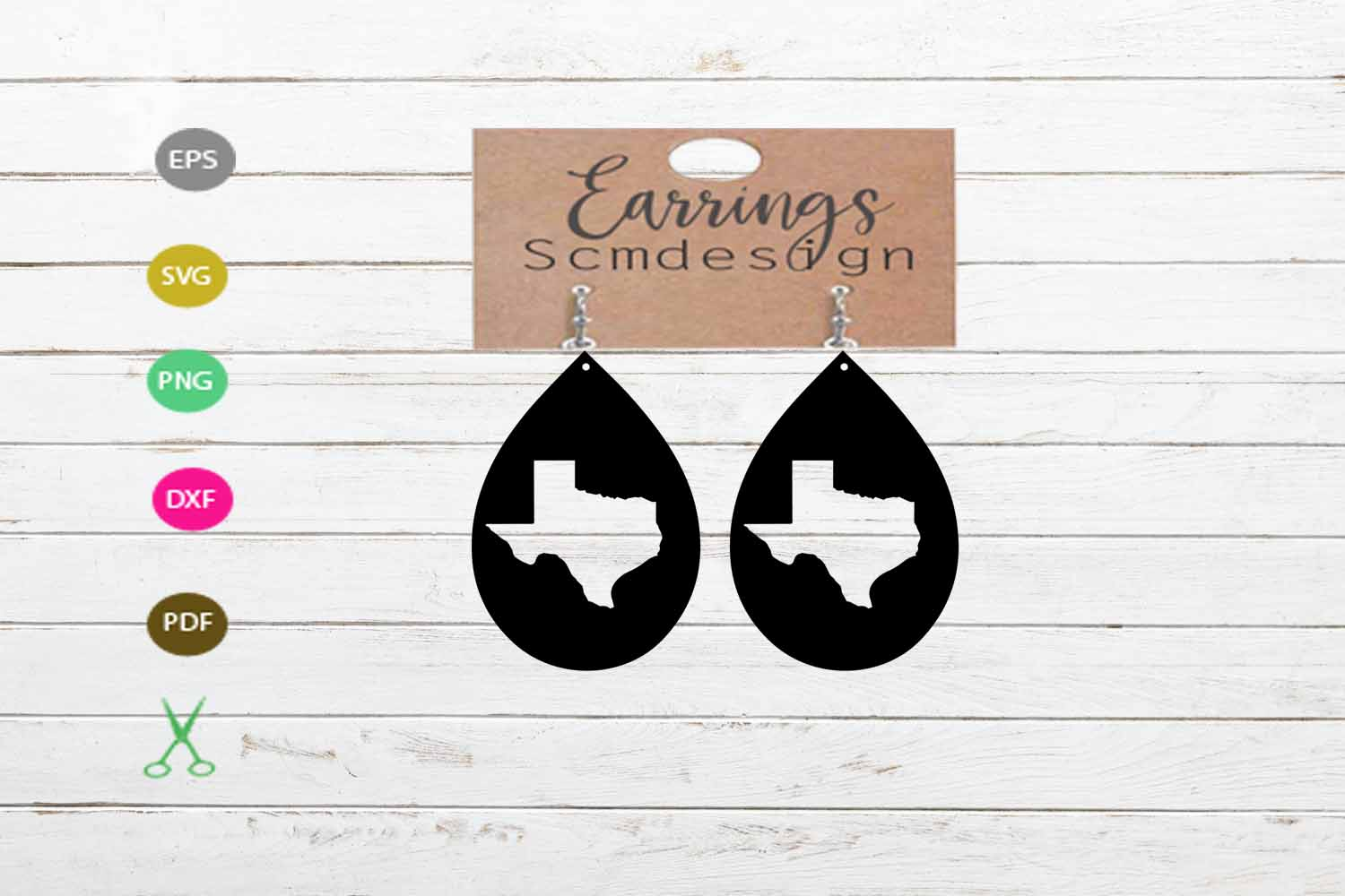 Texas svg, texas Earrings SVG,earrings template earrings cut example image 1