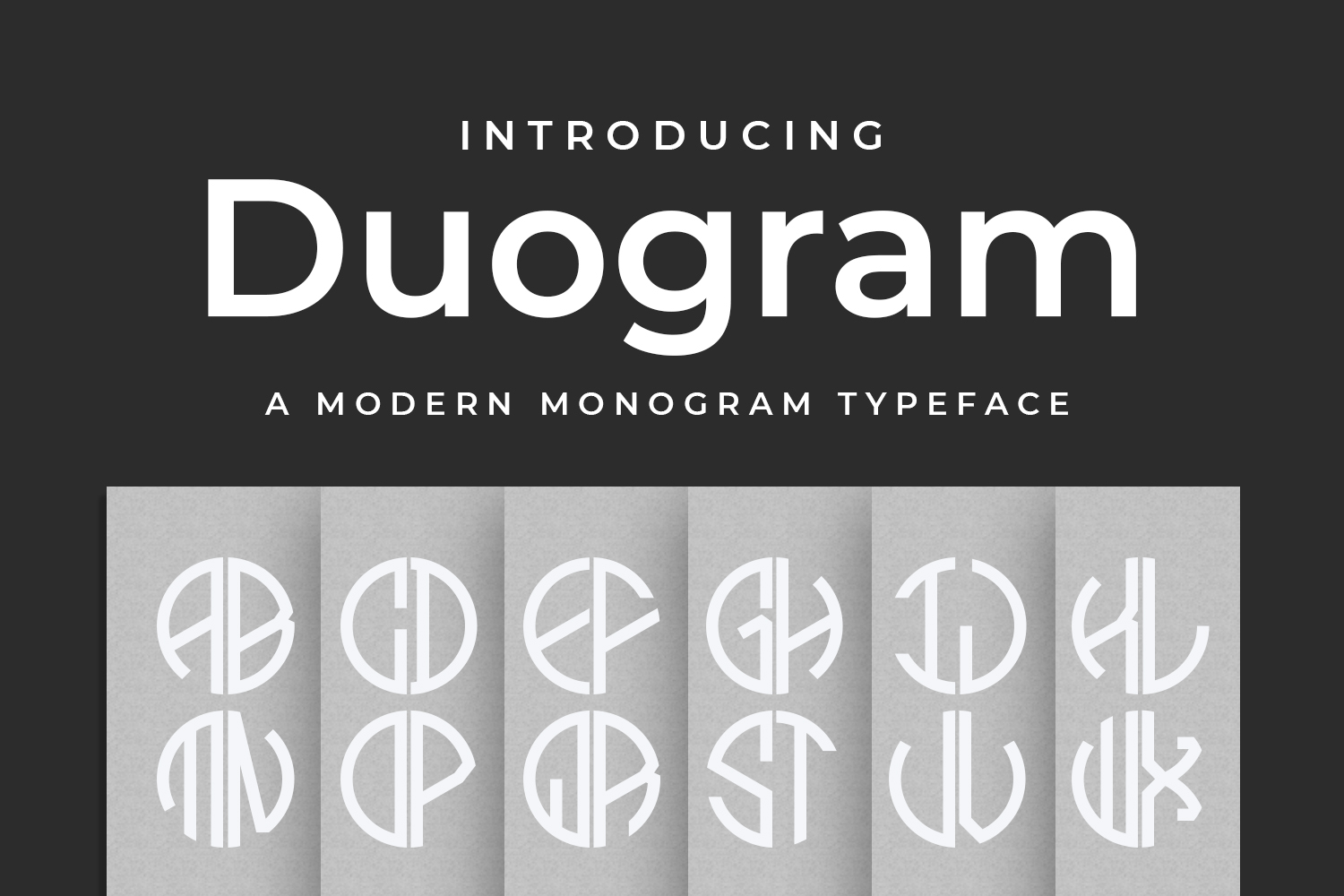 Duogram - a monogram font!  example image 1