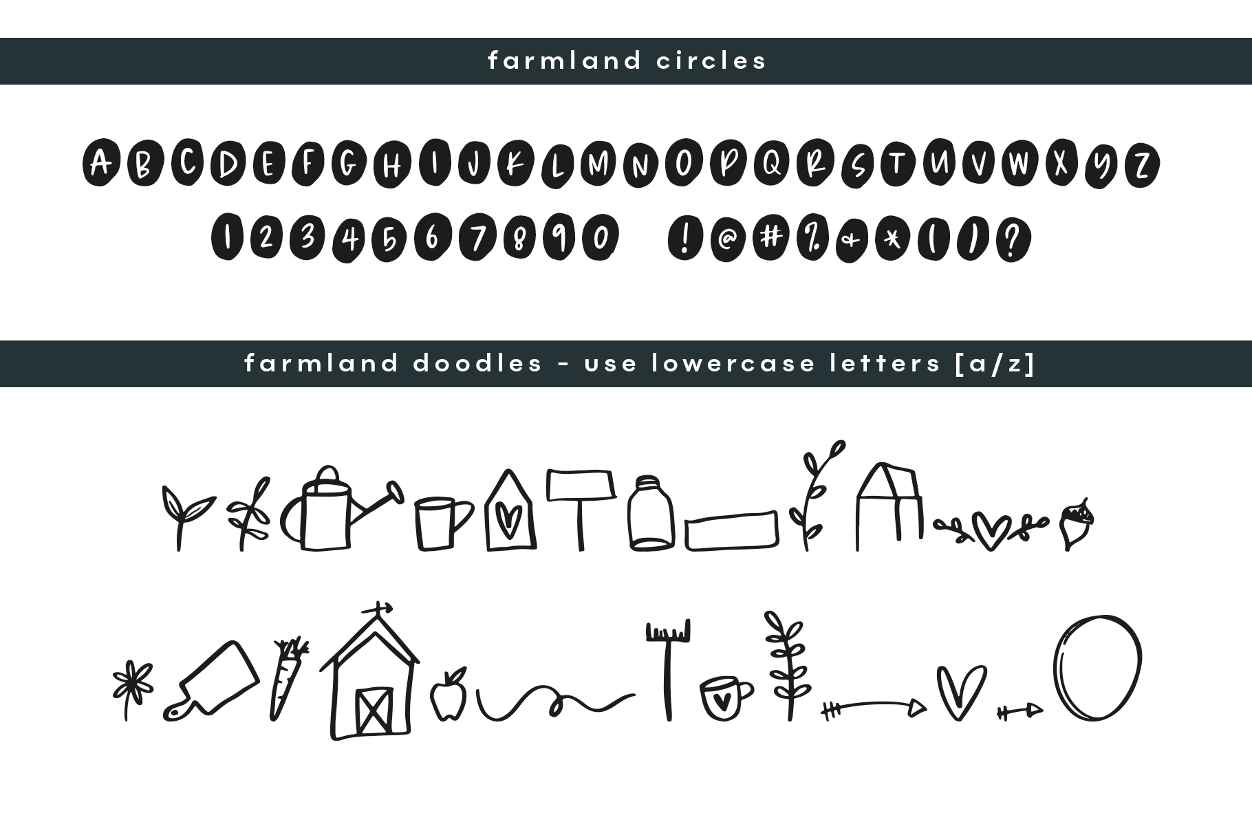 Farmland Fresh - A Font Duo with Doodles example image 17