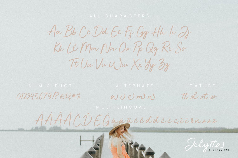Jelytta Handwritten Font example image 9